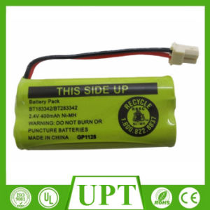 Ni Mh AA Rechargeable Battery Pack 2.4V 400mAh for Cordless Phone