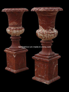 Rose Marble Vase on Base (1727) pictures & photos