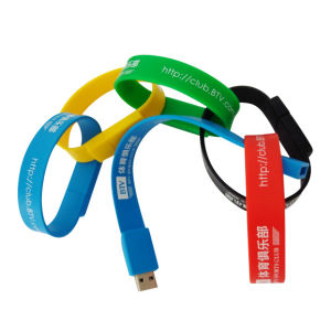Custom Silicone Band Bracelet with USB Memories pictures & photos