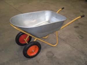 Galvanization Wheel Barrow (two wheels)