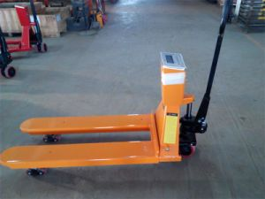 Hand Pallet Truck with Scales with Rubber Wheel and Lower Low Price pictures & photos