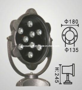 9W LED Inground Floodlight for Garden with IP68 Aluminium