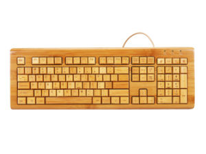 Handcrafted Lastst Design Bamboo USB/PS2 Computer Keyboard pictures & photos