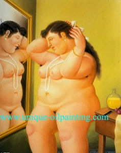 Oil Painting, Fernando Botero Oil Painting, Oil Painting Frame