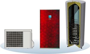 Evi Air to Water Heat Pump Split Type for Low Ambient Temperature -20c