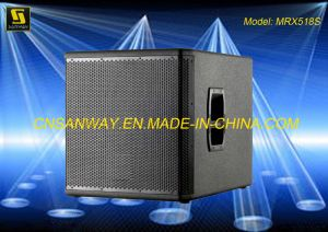 100 dB Spl Mrx518s 8ohms Subwoofer DJ Audio Speaker Box Conference Room System pictures & photos