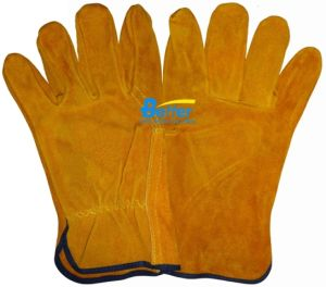 Golden Cow Split Leather Driver Work Gloves (BGCD202-2)