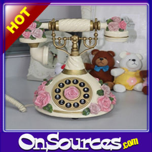 Home Classic Pink Rose French Style Telephone (OWTP-CP01)