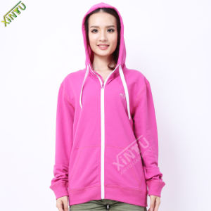 2016 New Arrival Fashion Windproof Pink Women Hoodies pictures & photos