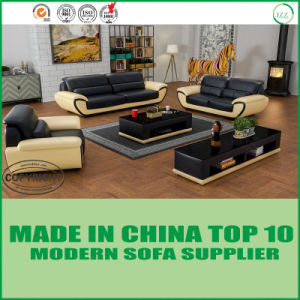 Contemporary Simple Design Modern Miami Leather Sofa Set pictures & photos