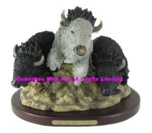 Polyresin Buffalo Trio Figurine, Resin Buffalo Sculpture pictures & photos