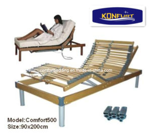 5 Zones Birch Wood Electric Adjustable Bed pictures & photos
