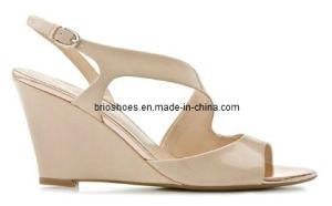 Simple Women Wedge Shoes Middle Heel Wedge