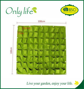 Onlylife 72-Pocket Reusable Vertical Green Wall Plant Hanging Bags pictures & photos