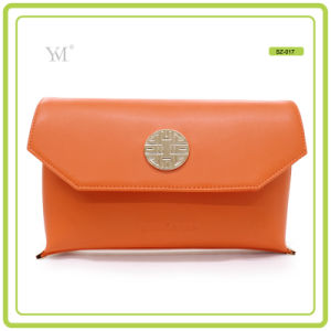 New Fashion Best Price Cosmetic Clutch Bag with Metal Plate pictures & photos