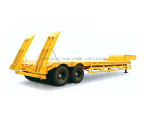 Low Bed Semi Trailer 2 Axles 40ton Hot Sale Semi-Trailer pictures & photos
