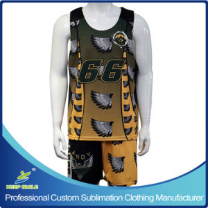 Custom Sublimation Men′s Lacrosse Uniforms for Game pictures & photos