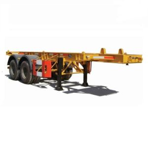 Hot Seller 2 Axles 40ft Skeleton Container Truck Trailer pictures & photos