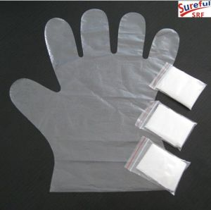 0.4G HDPE Disposable Gloves (2014SFPG019) pictures & photos