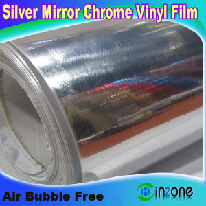 China car body vinyl rolls with mirror chrome silver for Mirror vinyl