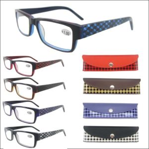 Hand Made Acetate Reading Glasses with Match Hard Case (RA284003) pictures & photos