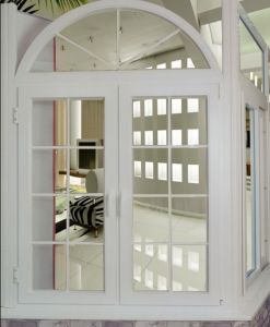 Good Quality UPVC Arched Design Casement Window (WJ-UPVC-W01)