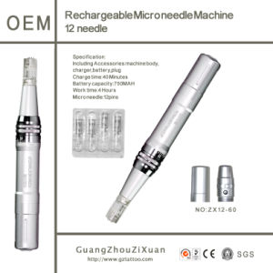 Rechargeable Dermapen Machine Dermaroller Microneedle Therapy Beauty Pen (ZX12-60) pictures & photos