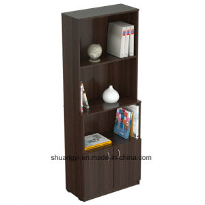 Espresso-Wengue Color Bookcase with Storage Area pictures & photos