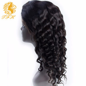 7A Full Lace Human Hair Wigs 250% Density Lace Front Human Hair Wig for Black Women Brazilian Natural Loose Curly Front Lace Wig pictures & photos