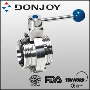 Stainless Steel Manual Thread Butterfly Valve with Pull Handle pictures & photos
