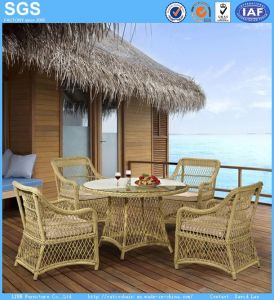 Garden Set Outdoor Furniture Round Wicker Circle Rattan Dining Table Set pictures & photos