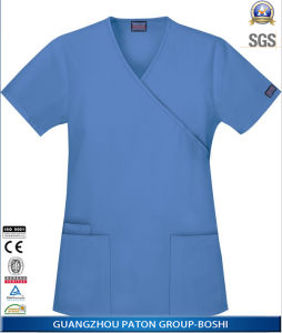 Custom Short Sleeve Nurse Hospital Uniform pictures & photos