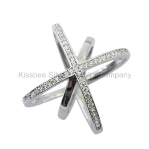 Fashion 925 Silver Jewelry Inlaid CZ Ring (KR3082) pictures & photos