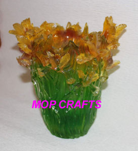 Transparent Polyresin Flower Vase pictures & photos