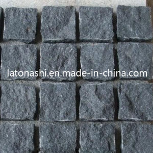 Natural Black Basalt Cobblestone, Non-Slip Cube Stone Paver for Patio pictures & photos