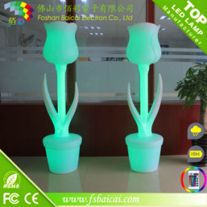Plastic LED Flower Vase pictures & photos
