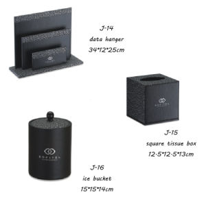 Leather J Hotel Amenities Products Leather Item PU Material pictures & photos