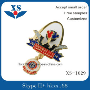 Promotional China Metal Soft Enamel Custom Badge