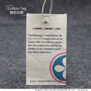 Export Silk Screen Printed Fashion Cotton Hang Tag pictures & photos