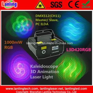 Kaleidoscope 3D Animation Laser Light for Laser Show Disco Party pictures & photos