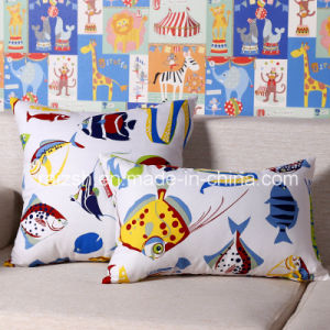 Fashion Fish Printed Pastoral Style Printed Cotton Canvas Pillow Wholesale pictures & photos