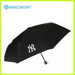 Cheap Custom Logo Printed Polyester Advertising 3 Folding Umbrella pictures & photos