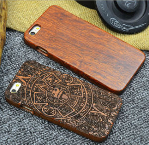 Custom Carving Patterns Wood Phone Case for iPhone 6 6s Mobile Cover pictures & photos