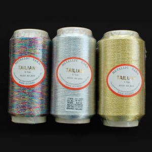 600d Silver Gold Polyester Metallic Yarn pictures & photos