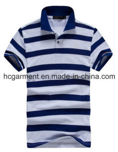 Short Sleeve Strip Cotton Polo for Man, Men′s T-Shirt pictures & photos