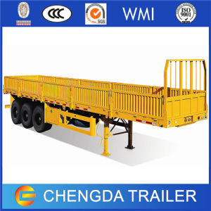 3 Axle Flatbed Cargo Trailer for Cargo and Container Transportation pictures & photos