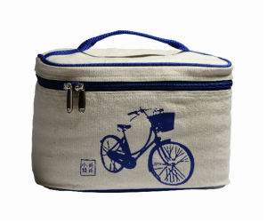 Chinese Style Canvas Insulated Thermal Tote Cooler Lunch Bag (MS3121) pictures & photos
