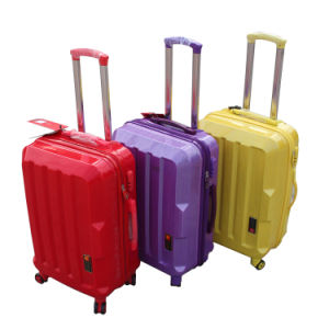 Color Accessories Wholesale Customized Cheap Zipper ABS Trolley Luggage