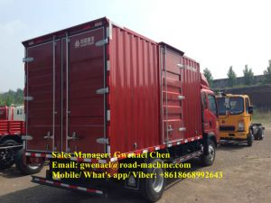 Sinotruk HOWO 4X2 10 Ton Box Cargo Truck with LHD/Rhd pictures & photos