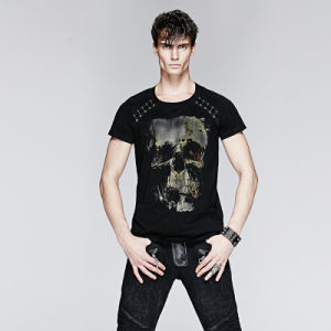Metal Man T-Shirt with Skull Printing (T-398) pictures & photos